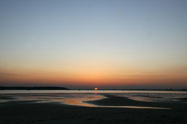 Sunset over Sandbanks