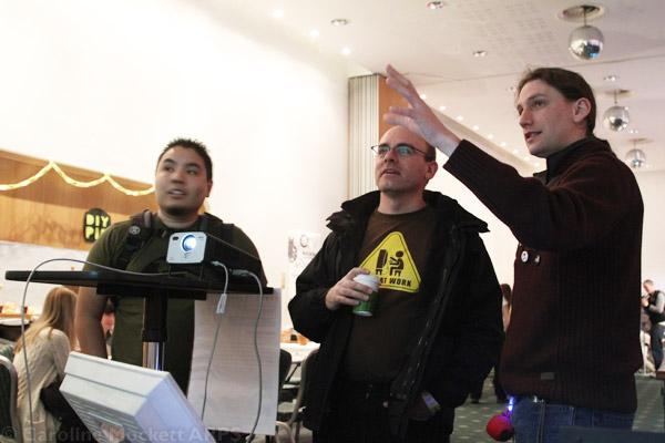 Alistair demos his Metro Simulation