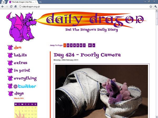 Swanky headings for dailydragon.org.uk
