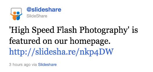 Slideshare Tweet