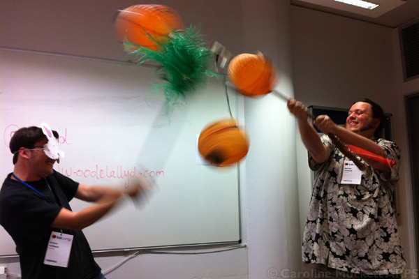 Simon Willison beats up Adrian Howard's Piñata