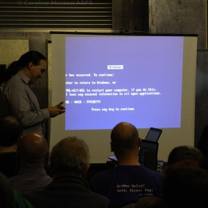 The lovely Blue Screen Of Death!