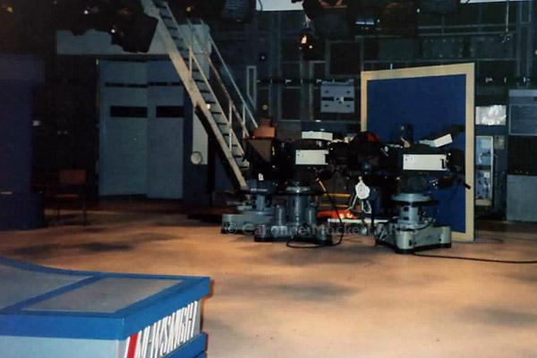 TC2 Studio Floor With Ancient Newsnight Set